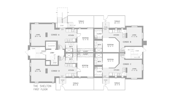 Condo First Level Floor Plan