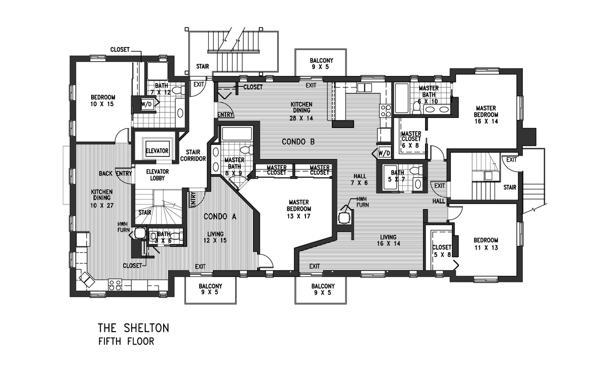 Affordable luxury condominiums in indianapolis the for Condominium floor plan