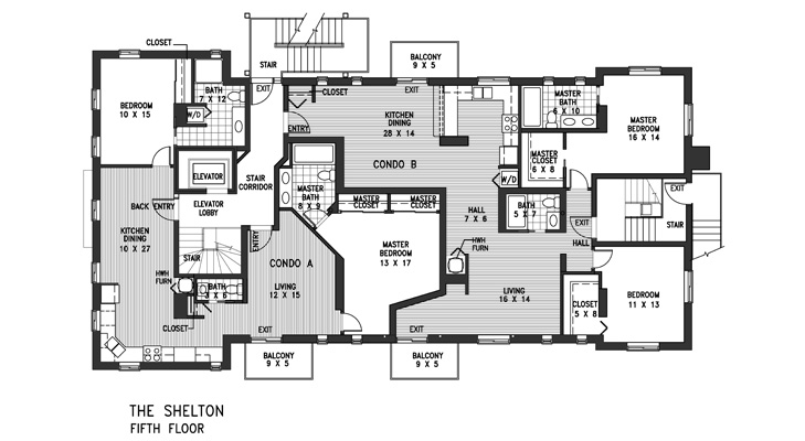 Condo Fifth Level Floor Plan